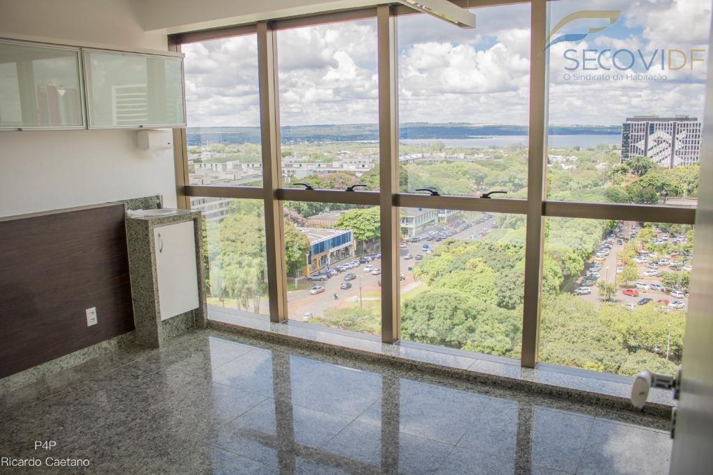 smhn ed. crispim, asa norte - brasília/dfexcelente sala comercial, vista privilegiada para o lago, nascente, dividida...