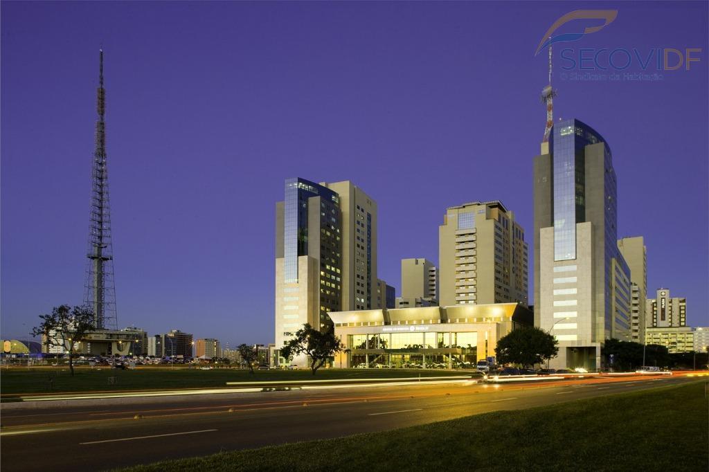 shs quadra 06, edifícil brasil xxi, asa sulsala com 33m2 mobiliada e escriturada com 01 vaga...