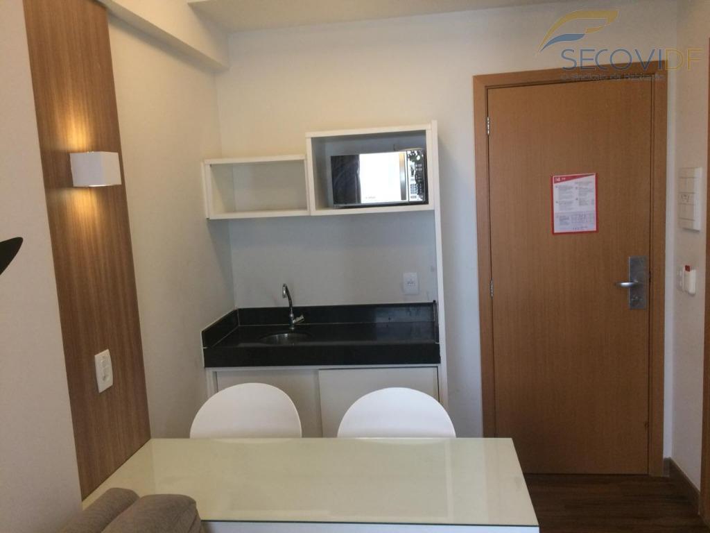 rua 36 - smart 04 - águas clarasótimo flat, mobília completa. 01 quarto com armário, cama,...
